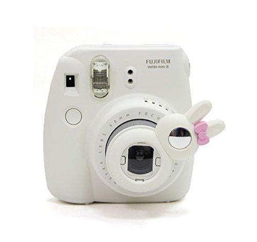 Galleria fotografica Woodmin Coniglio Ancora Close Up selfie Lense Für Fuji Mini 7s 8 Kamera (bianco)