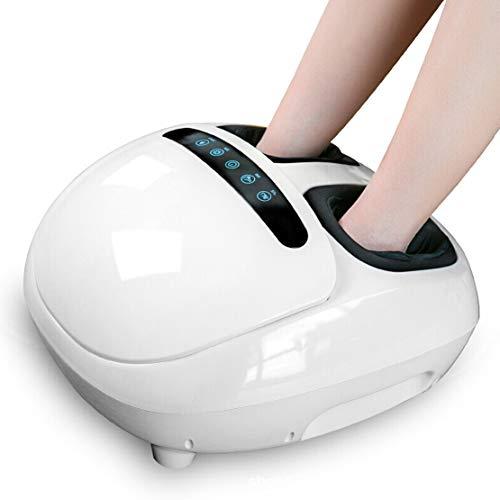 Elektrisches Fuß Massagegerät Shiatsu Schrott Luftkompressions Wärmemassage für zu Hause entlasten Ticketermüdung,White