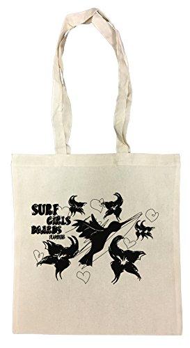 Erido Surf Girls Boards Einkaufstasche Wiederverwendbar Strand Baumwoll Shopping Bag Beach Reusable -