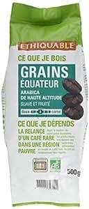 Ethiquable Café Grains Equateur Bio 500 g - Lot de 2