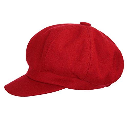 VGLOOK - Boina - Mujer Rojo Rosso Talla única