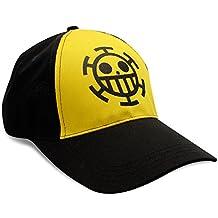 One Piece - gorra de béisbol capitán piratas Trafalgar Law ajustable de algodón negro