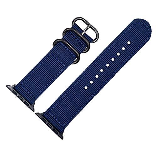 Nylon Azul Reloj de Pulsera de Reloj de Manzana Banda de 42 mm para la Serie iWatch 3/2/1 Hermes edición Deportiva Nike +