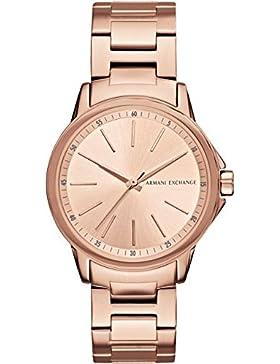 Armani Exchange Damen-Armbanduhr Analog Quarz One Size, rosé, rosé