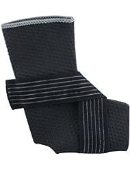 Denshine deportivo ajustable Tobillera Elástica Brace Wrap Pad Pies Protección Fútbol/Baloncesto 1pcs, negro