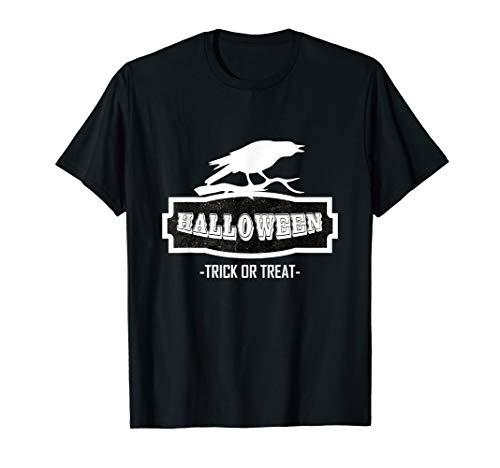 Funny Happy Halloween Rabe Trick or treat Damen Herren  T-Shirt