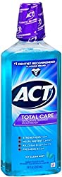 2 Pack - ACT Total Care Anticavity Fluoride Mouthwash Icy Clean Mint 18 oz