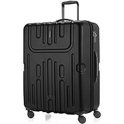 HAUPTSTADTKOFFER - Havel - Valise rigide grande Bagage Trolley 4 Roues - TSA - 74 cm - 110 litres - Noir