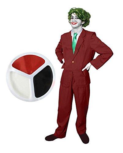 Déguisement pour adulte du célèbre clown à la chevelure verte et au large sourire ennemi de la chauve-souris. Idéal pour les enterrements de vie de garçon ou les fêtes d'Halloween. ( Small )