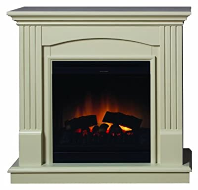 Dimplex CDW12WW Chadwick Freestanding Optiflame Effect Electric Fire Suite, 1.2 Kilowatt