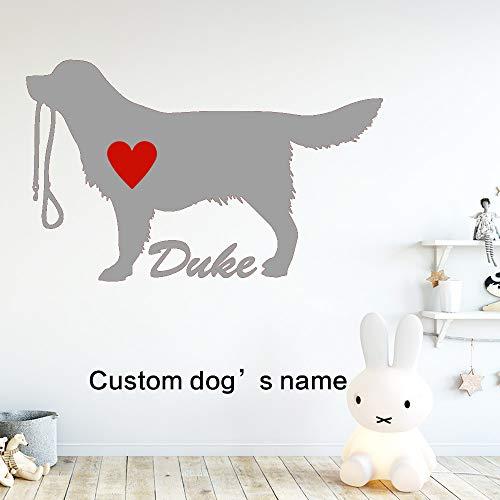 zhuziji Cute Dog Duke Aufkleber Wasserdicht Vinyl Tapete Wohnkultur Für Kinderzimmer DIY Dekoration Bett Room Decor 888-4 65x104 cm