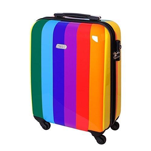 hartschalen-reise-koffer-trolley-bordgepack-kurzurlaub-ryanair-geeignet-handgepack-30-liter-regenbog