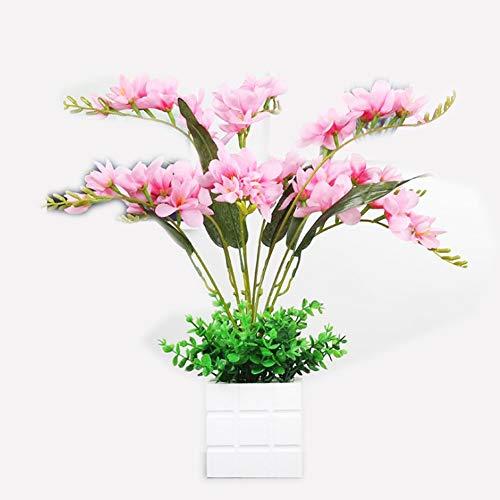 dee Schneefräse in Vase mit Blumen-Verzierungen aus Falso Pflanzengefäß, kreativ, grüne Blumen ()