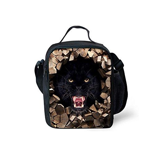 Yl Story 3D animali design borsa a tracolla Totes bambini impermeabile picnic sacchetti/borse per il pranzo Lion 1 Orangutan