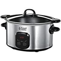 Russell Hobbs Digital Searing Slow Cooker 22750, 6 L - Stainless Steel and Silver