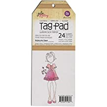 Prima Marketing Papel recuerdos Julie Nutting Tag Pad 3.5-inch (21,59 x 21,59 cm 2-watercolor