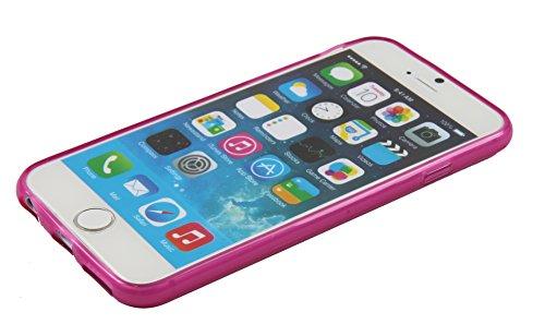 Luxburg® Glaze Design Schutzhülle für Apple iPhone 6 in Farbe Iris Violett / Lila, Hülle Case aus TPU Silikon Pink