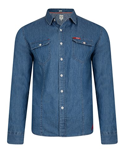 Lee Cooper charrisworth Jeans di cotone a maniche lunghe Denim Mid Wash Small
