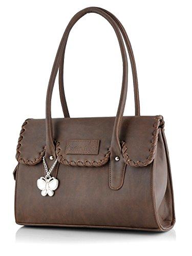 Butterflies Women\'s Handbag (Brown) (BNS 0265 BN)