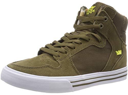 83feb83da7 Supra Vaider, Sneaker a Collo Alto Uomo, Verde (Olive/Golden-White