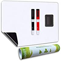 Whiteboard Magnetic Fridge White Board A3+ with New Stain Resistant Technology,Dry Wipe Memo Board for Home Kitchen Office Daily Weekly Planner,Kids Drawing Magnet Board Include 2 Marker Pens&Eraser