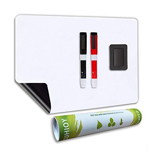 Whiteboard Magnetische A3+ mit Neuer Fleckenresistenter Technologie, Küche Kühlschrank White Board für Menü Einkaufsliste Memo Täglich Plan,Kinder Erwachsene Schreib tafel enthält 2 Marker & Radierer (Kühlschrank Tafel,)