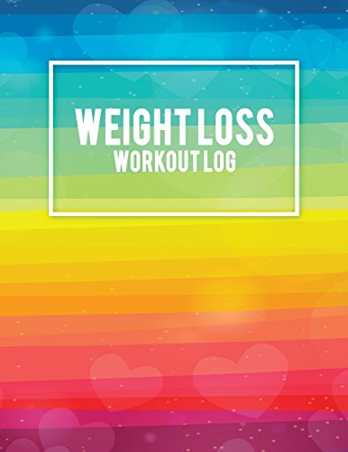 Weight Loss Workout Log: Gay Pride, Weekly Menu Meal Plan And Weekly Workout Progress Planner Large Print 8.5