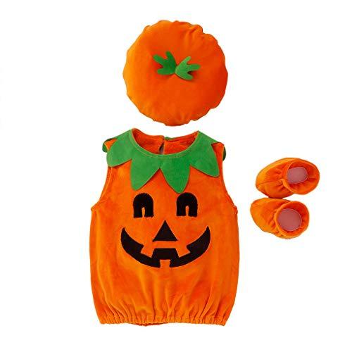 MYONA Sombrero Conjuntos Bebe, Infantil Disfraz Halloween Fiesta Pelele Manga Corta Bebe Mono Mameluco...