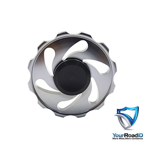 Your road id Wheel fidget spinner (metal spinner) Black