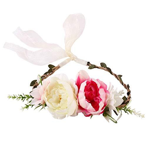 TLfyajJ Strandparty künstliche Blumen Kinder Stirnband Haarband Garland Kranz Headwear B