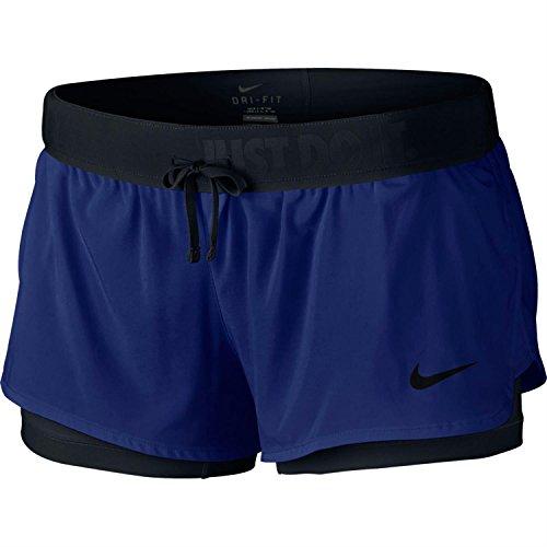 Nike Damen Full Flex 2-in-1Shorts, Schwarz,  Gr. M
