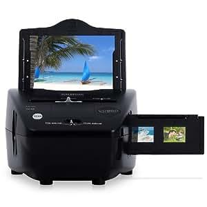 Klarstein Combo Dia-Scanner Foto-Scanner mit 5,1 Megapixel (Fotos & Negative digitalisieren, 3600 dpi Auflösung, Mini-USB-2.0, inkl. Software-CD für PC) schwarz