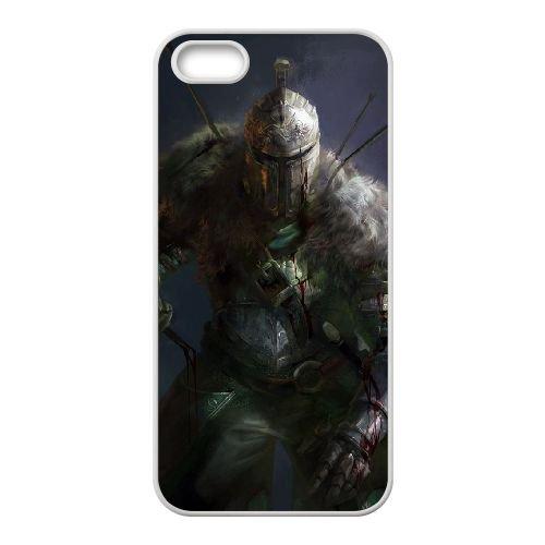 Dark Souls coque iPhone 5 5S Housse Blanc téléphone portable couverture de cas coque EBDXJKNBO15471