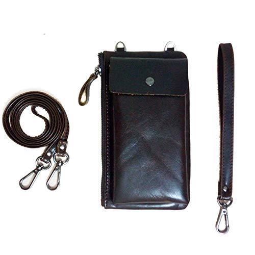 LXIANGP Diagonale Handytasche der Frauen einfache Reißverschlussmappe Einzelne Schulter Kleine quadratische Beutellederkupplung, Zwei zusammenpassende Weisen, 10.5cm * 2.5cm * 18.5cm