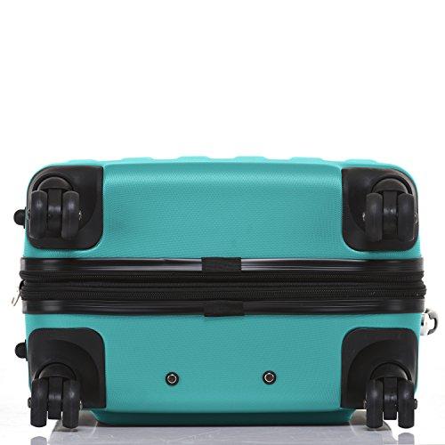 SHAIK® Serie BUTTERFLY, FRA 3 Größen, M | L | XL | Set | 45/78/124 Liter Zahlenschloss (Türkis, XL | Großer Koffer) - 6