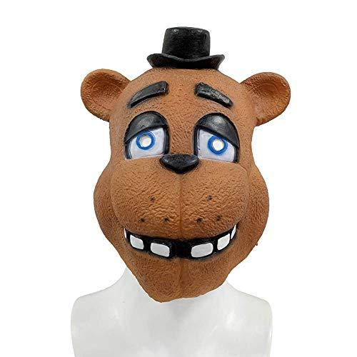 XBYUK 1333/5000 Die fünf Mitternachtsharem-Spielcharaktere des Teddybären Halloween-Kostüm-Partei-Partei-lustige Masken-Kopfbedeckung