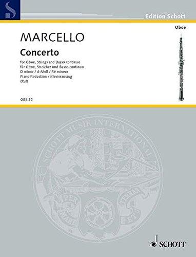 Concerto d-Moll: Oboe (Violine), Streicher und Basso continuo (Cembalo/Orgel); Violoncello (Viola da gamba) ad libitum. Klavierauszug mit Solostimme. (Edition Schott)