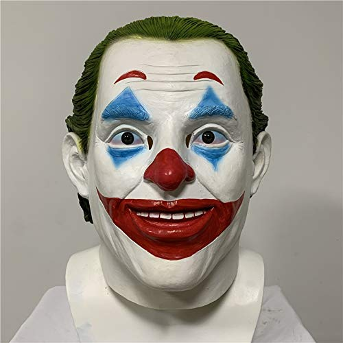 Ritter Kostüm Dunkle Der - VAWAA Joker Maske Film Batman Der Dunkle Ritter Cosplay Horror Beängstigend Clown Maske Halloween Latex Maske Party Cosplay Kostüm Requisiten
