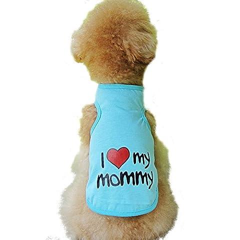 Eleery New Cute Pet Dog I LOVE MY MOMMY Print