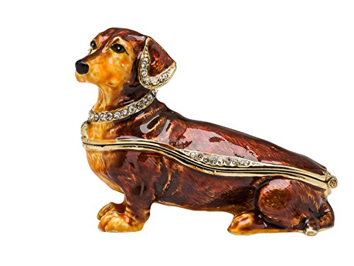 Dackel Hund Pillendose Schmuckdose Dose Pillenbox Box Dose Pille Schmuck Figur