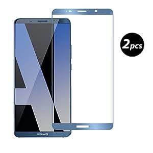 Electro-weideworld [2-Pack] Huawei Mate 10 Pro Protection écran, [Couverture Complète] Protection écran Verre Trempé Film protecteur d'écran pour Huawei Mate 10 Pro, Bleu