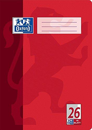 10x Oxford Heft A4 Lineatur 26 - kariert mit Rand