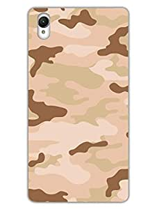 Camouflage - Indian Army Desert - Uniform - Hard Back Case Cover for Sony Z1 - Superior Matte Finish - HD Printed Cases and Covers