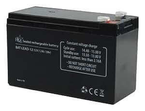 HQ BAT-LEAD-12 Batterie au plomb rechargeable (12V 7.2Ah