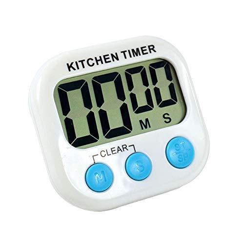CourTerzsl - Mini alarma de cocina para horno, temporizador digital portátil blanco