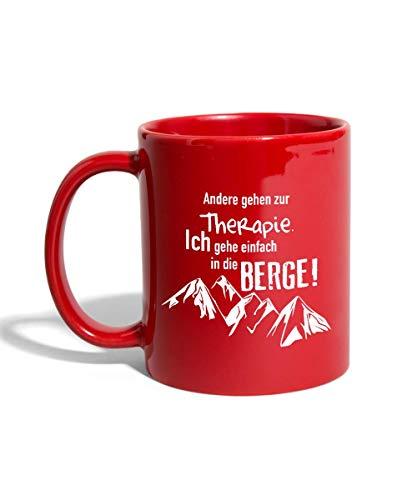 Spreadshirt Berge Statt Therapie Klettern Wandern Bergsteigen Tasse einfarbig, Rot