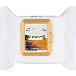 Loreal Age perfect Cleansing Wipes for Mature Skin (Pack of 25 Wipes) with Ayur Product in Combo