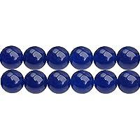Perles Rondes en Calcédoine Bleus Teintées 4mm pour pour Bijoux Longueur 38cm environ 90 pcs