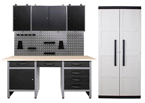 Ondis24 Werkstatteinrichtung - 170 cm - 5 teilig, Set inklusive Comfort XL Schrank, bestehend aus...