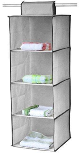 KANTHI 4 Pocket Hanging Organizer Folding Tier Clothes Shoes Shelf Rack Holder Wardrobe Storage Closet Hanging Organizer  available at amazon for Rs.458